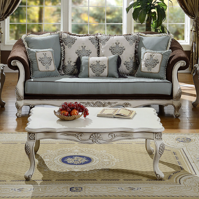 Classical Living Room Sofa Upholstered in Velvet Fabric for Home