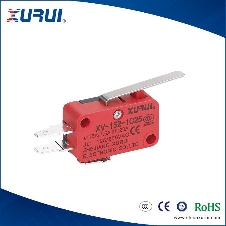 15A/250VAC 3 Pins Microswitches with UL Model V-152-1c25