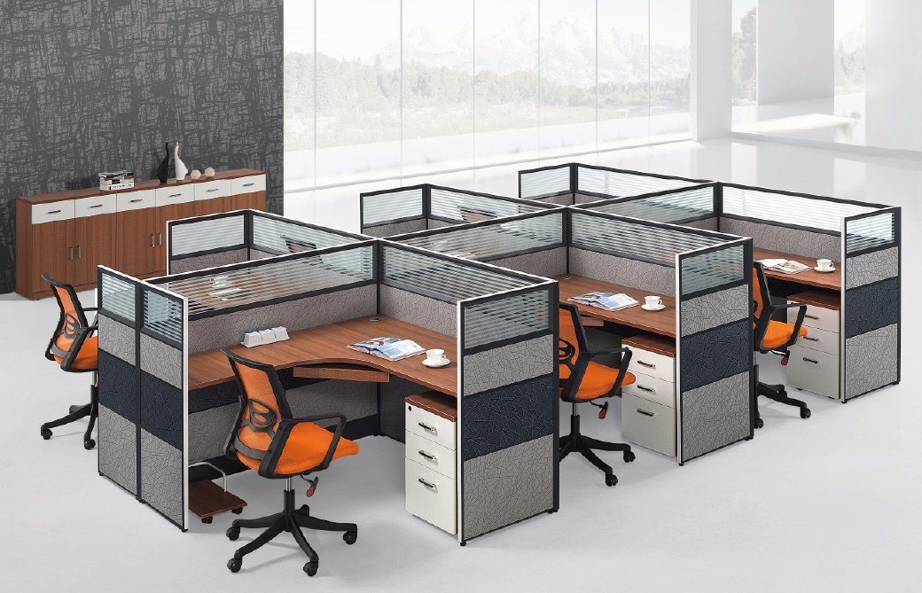 Modern Aluminum Glass Wooden Cubicle Workstation / Office Partition (NS-NW220)