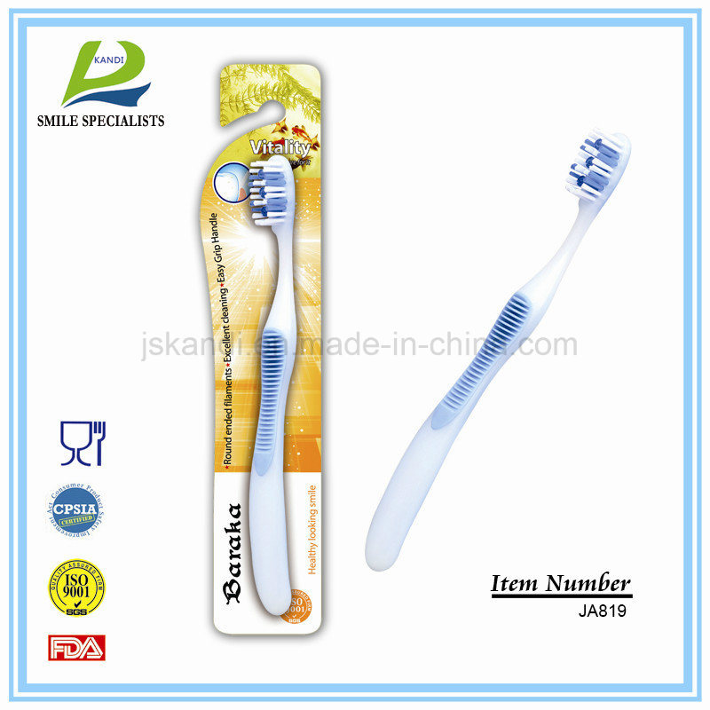 Big Handle Toothbrush with Massager/Tongue Cleaner