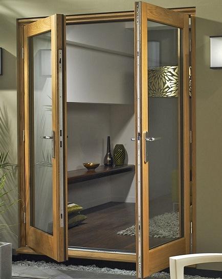 Solid Wood Aluminum French Door for America Villa