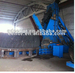 OTR Tyre Cutting Machine / Waste Tyre Recycling Rubber Powder Production Machine