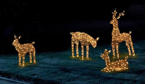 China 3d reindeer family christmas rope led mini for Animated lighted reindeer christmas decoration