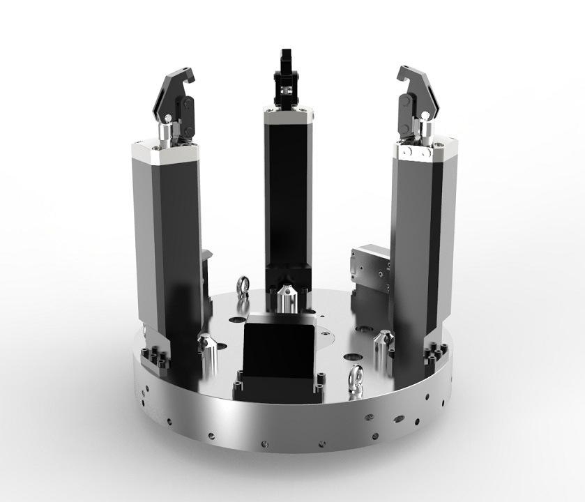 Motor Housing Hydraulic Lathe Workholding