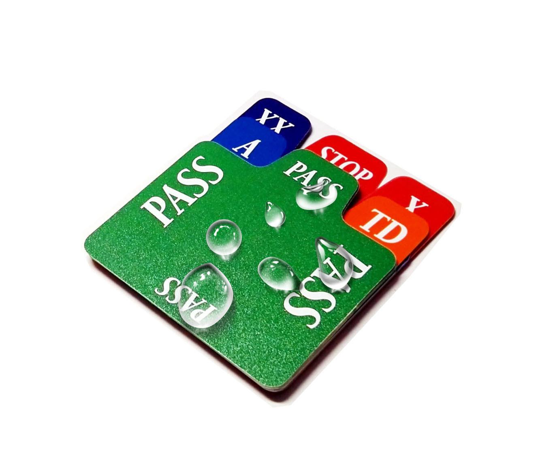 Plastic Bidding Cards for Contract Bridge
