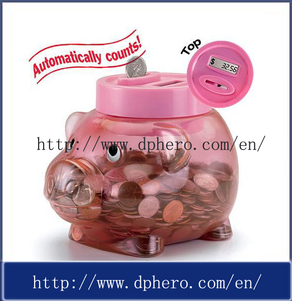 China digital coin counting piggy bank for kids hr 308 china piggy coin bank coin bank - Counting piggy bank ...