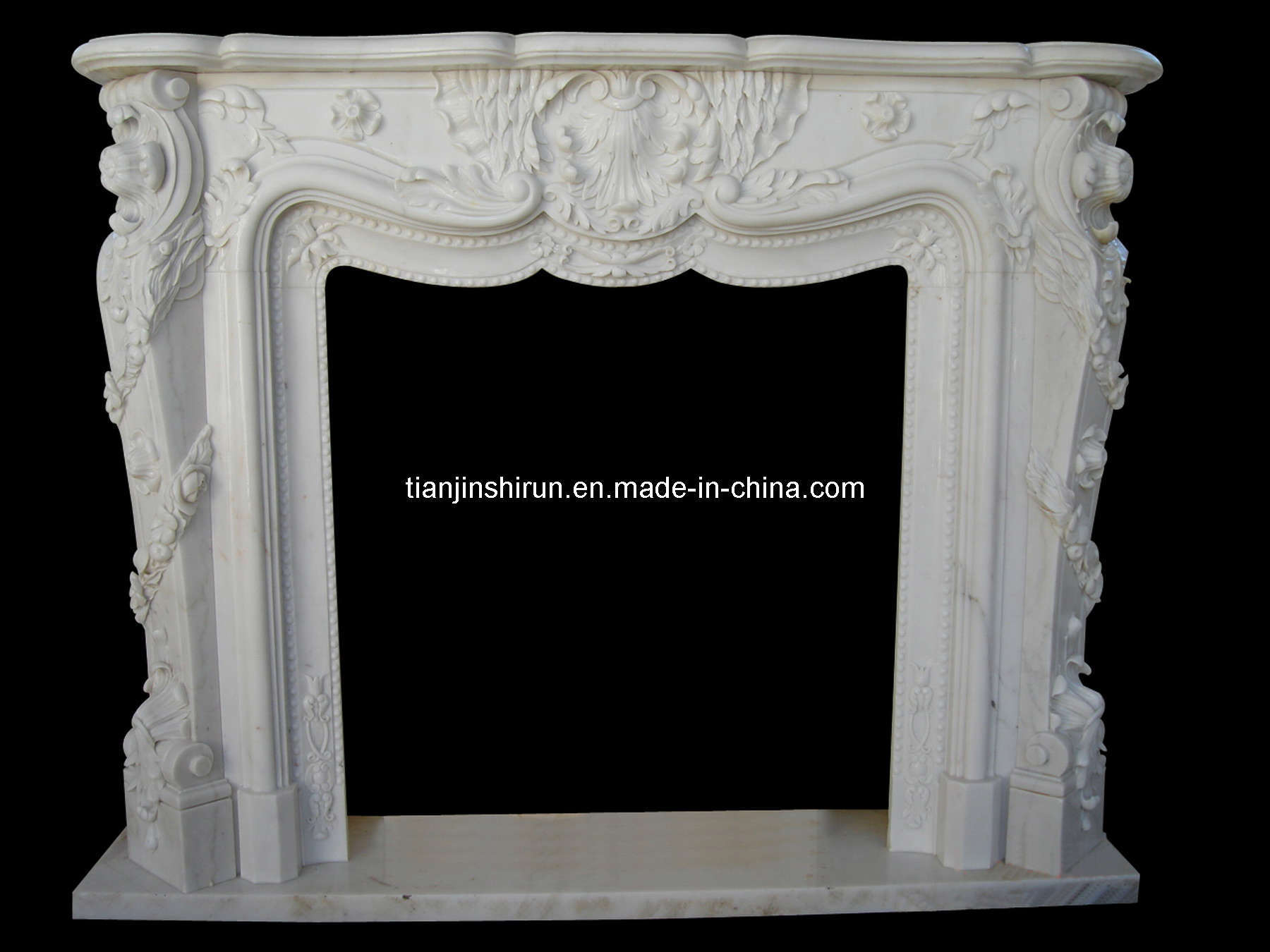 White Marble Fireplace (L1-26)