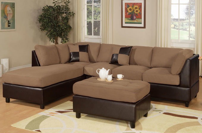 Black and Brown Sectional Sofa Couch 680 x 450
