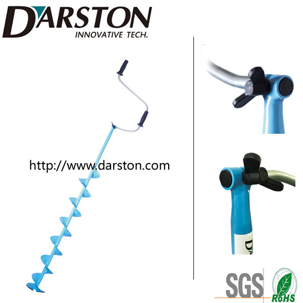 Hand Ice Auger Longer Drill with T-Connection