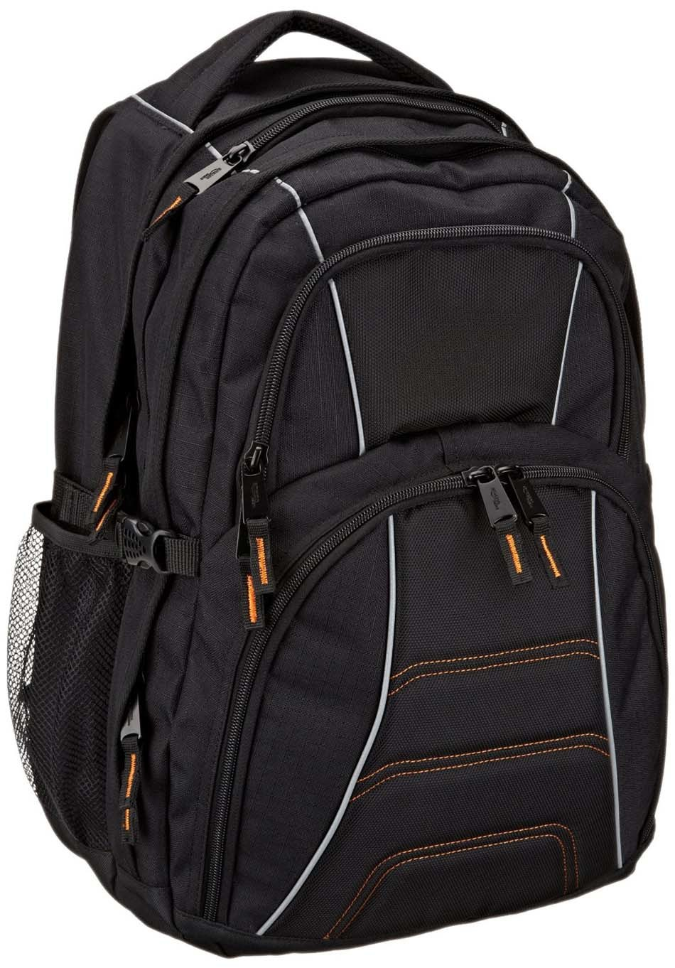 "Durable Black Polyester Business 17"" Laptop Backpack Bag (MS6051)"