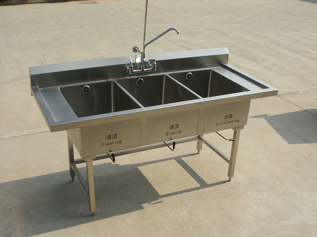 Triple Bowl Sink : China Stainless Steel Triple Bowl Sink Kitchen Equipment Photos ...