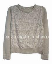 Velvet Soft Round Neck Sweater for Women