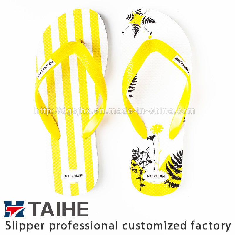 High Quality Factory Custom Printing Rubber Flip Flops Women Slipper