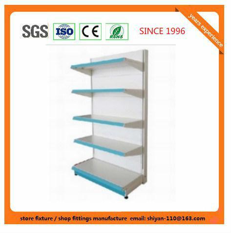 Metal Supermarket Shelf Store Retail Fixture for Angola Market Exhibition Shelf 08153
