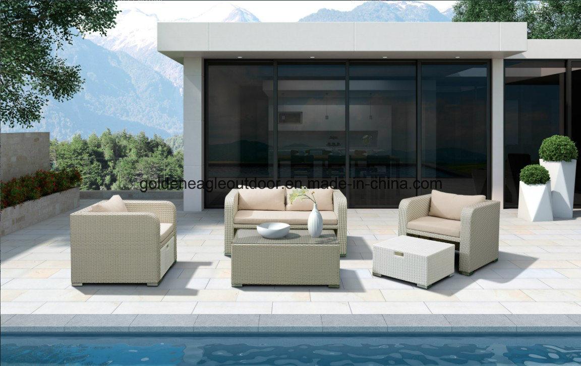 Morden Outdoor Sofa PE Rattan Designer Garden Wicker Furniture (S0214)