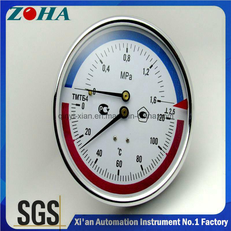 100mm Diameter Stem Length 64mm Pressure & Temperature Gauge