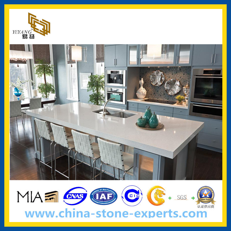 Artificial Quartz Stone for Kitchen Countertops or Tiles