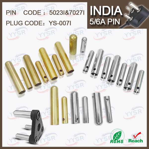 5023I 7027I 5/6AMP 10A Soldering Type Brass India Plug Pin Hollow (5.0mm 7.0mm brass soldering terminal)