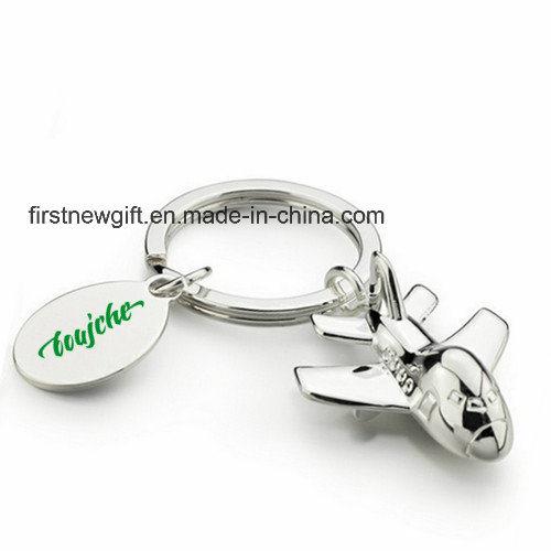 Hot Sale Cheap Print Logo Metal Keyring Promotion Gift (F1068)