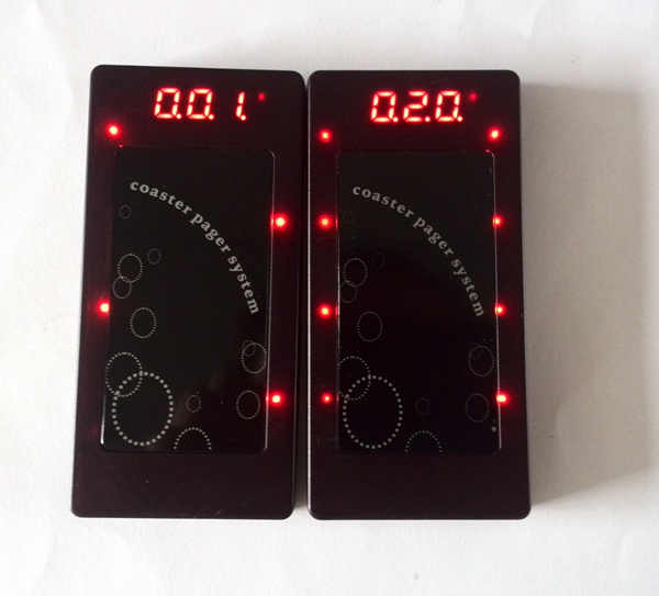 Wireless Coaster Pager, Restaurant Waiter Buzzer System, Restaurant Guest Paging System