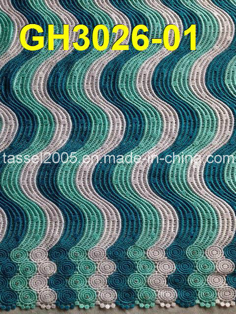Latest Multi Color Cord Lace (GH3026-01)