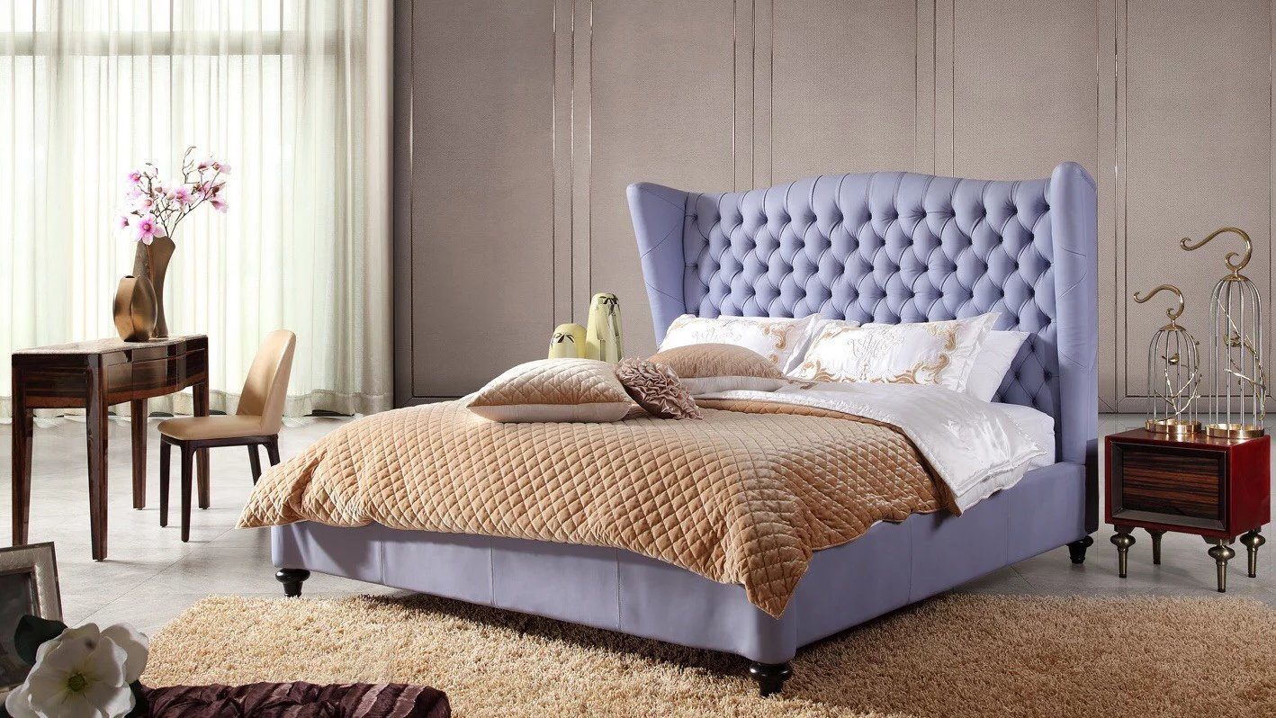 Leather King Bed for Bedroom Use (B005)