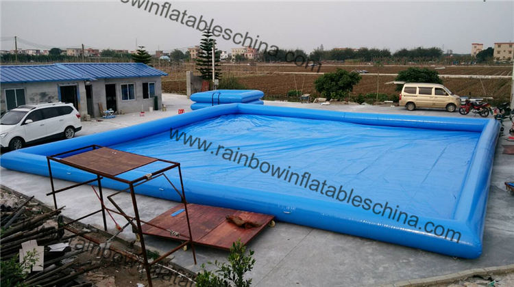 Blue Color Best 0.6mm PVC M2 Certification Inflatable Swimming Pool
