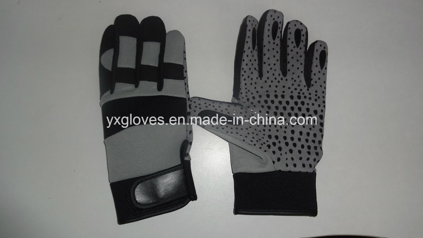 Work Glove-Safety Glove-Mechanic Glove-Gloves-Labor Glove-Synthetic Leather Glove