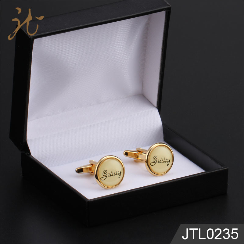 Fashion Nice Quality Round Type Rose Gold Cuff Links Wholesale