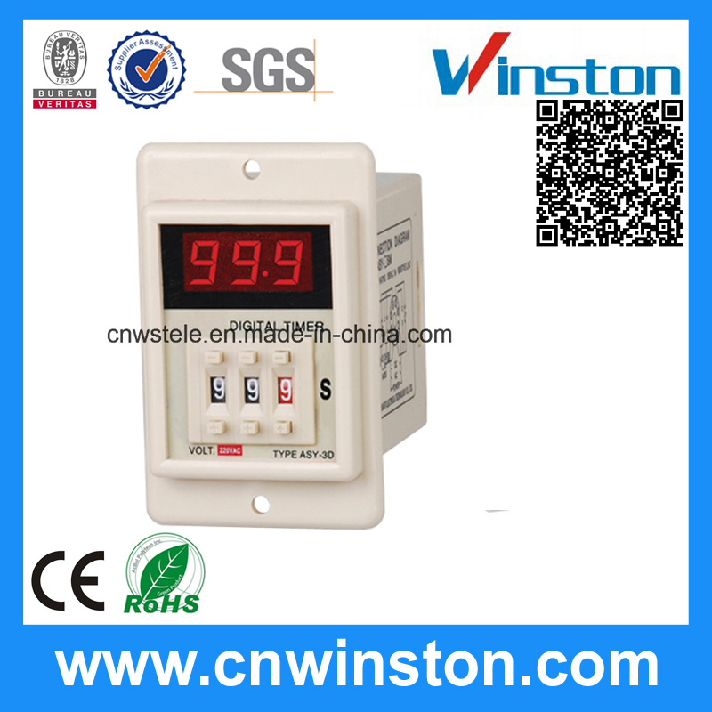 LED Display Wide Range Cycle Digital 220V Digital Time Relay