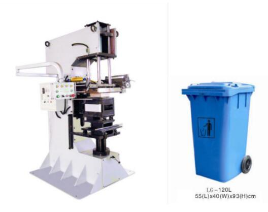 Golden Hot Foil Printing Machine for Waste Bin