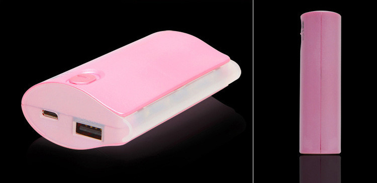 3000/3600/4000/4400/5200/5600/6000mAh 18650 Battery Cells Marquee Mobile Power Bank Charger (PB-YD20)
