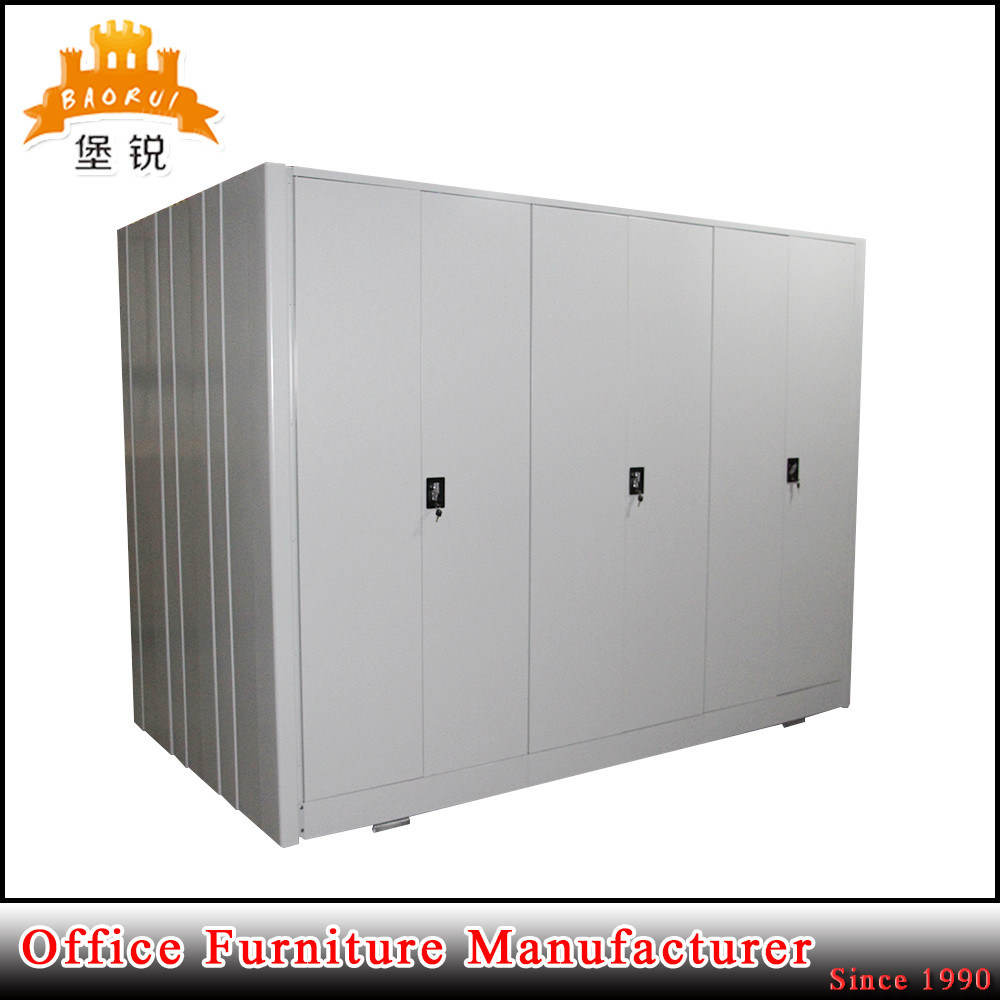 Knock Down Structure Compactor Bookshelf Metal Mobile Office Filing Cabinet