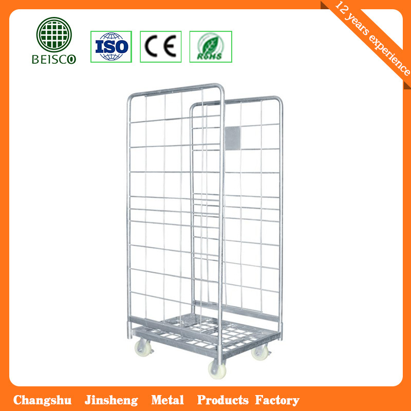 Hot Sale Foldable Steel Roll Container /Transport Trolley