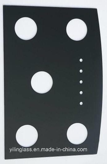 Black Ceramic Tempered Cooktop Glass