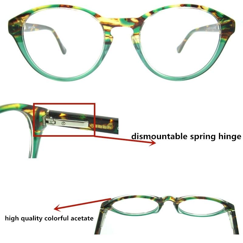 2017 Italy Design Bright Color Acetate Eyeglasses Frame
