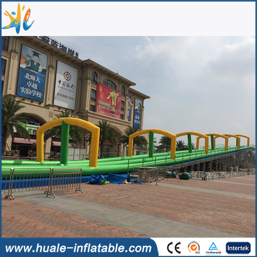 2017 Hot Sales Long Double Lane Inflatable Water Slide/City Slide