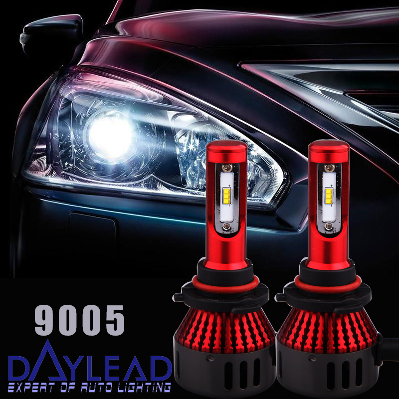 New Design Red Housing Imported High Power Chips 48W 9005 Mini LED Head Lamp 5500K