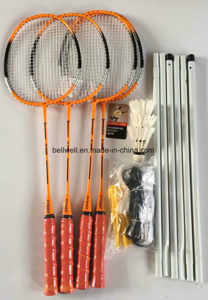 Badminton Racquets and PVC Volley Ball Set