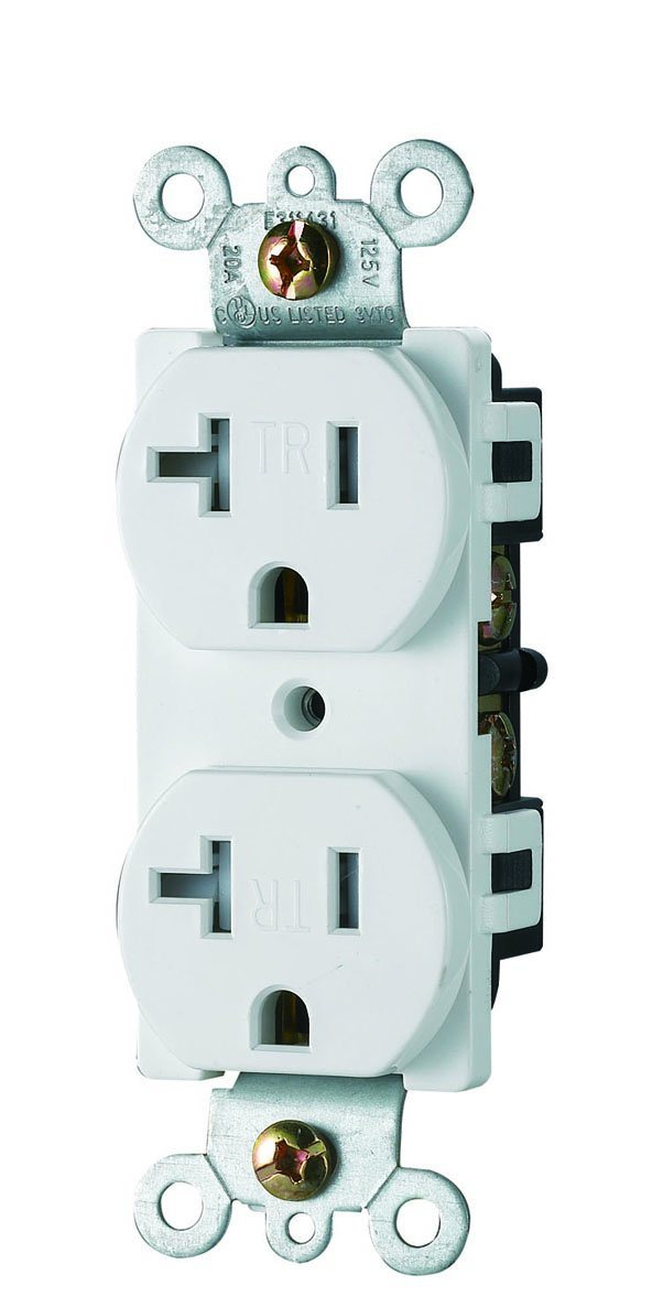Tamper Resistant Receptacle with UL Certification, Self Grounding, Residential