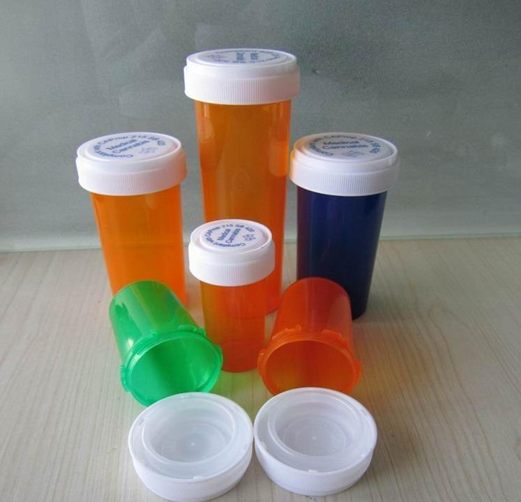 Child safety Pharmacy Vial, Plastic Reversible Vials