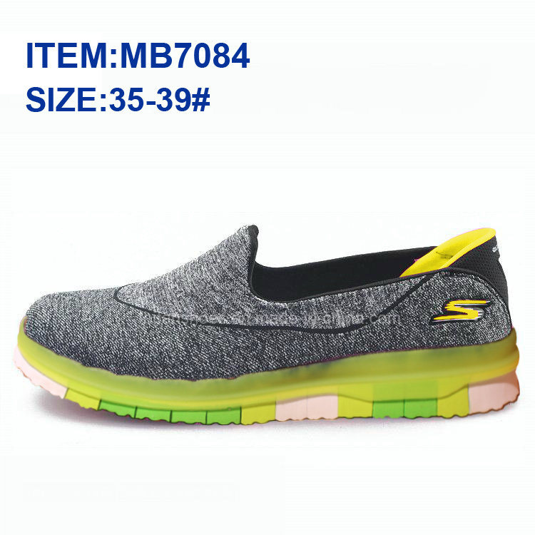 Latest Women Slip-on Sports Casual Shoes Walking Shoes Wholesale (MB7084)