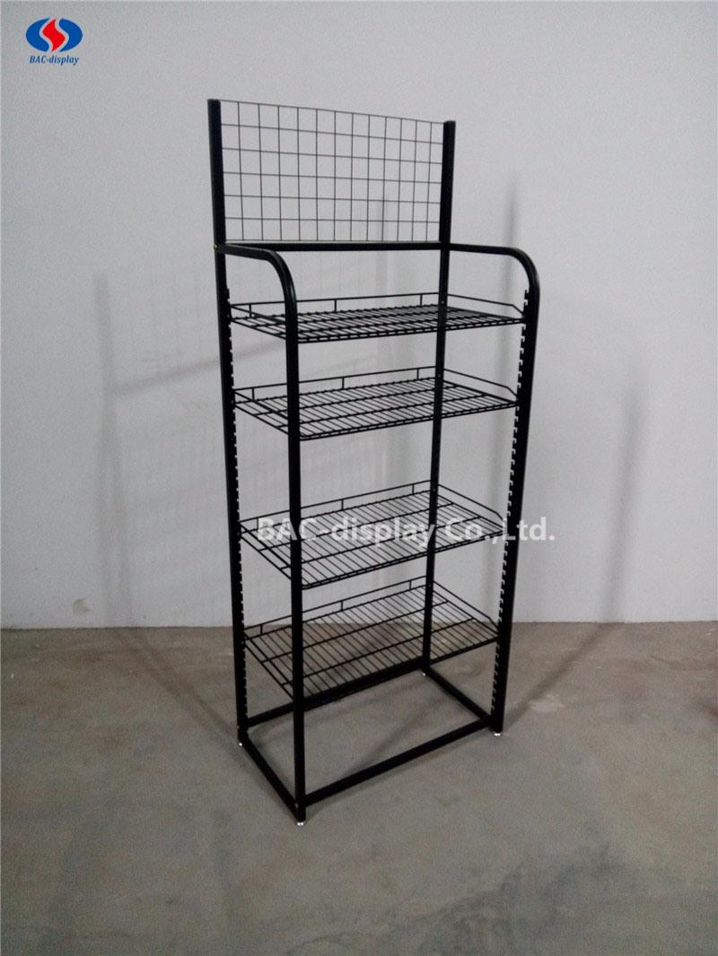 Customized Floor Standing Metal Wire Display Rack