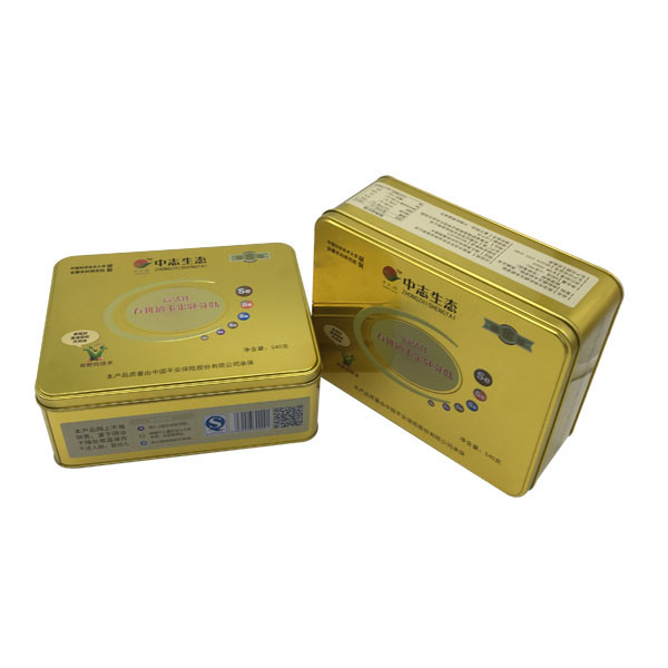 Gold Color Tin Box Packing Biscuit Cookie