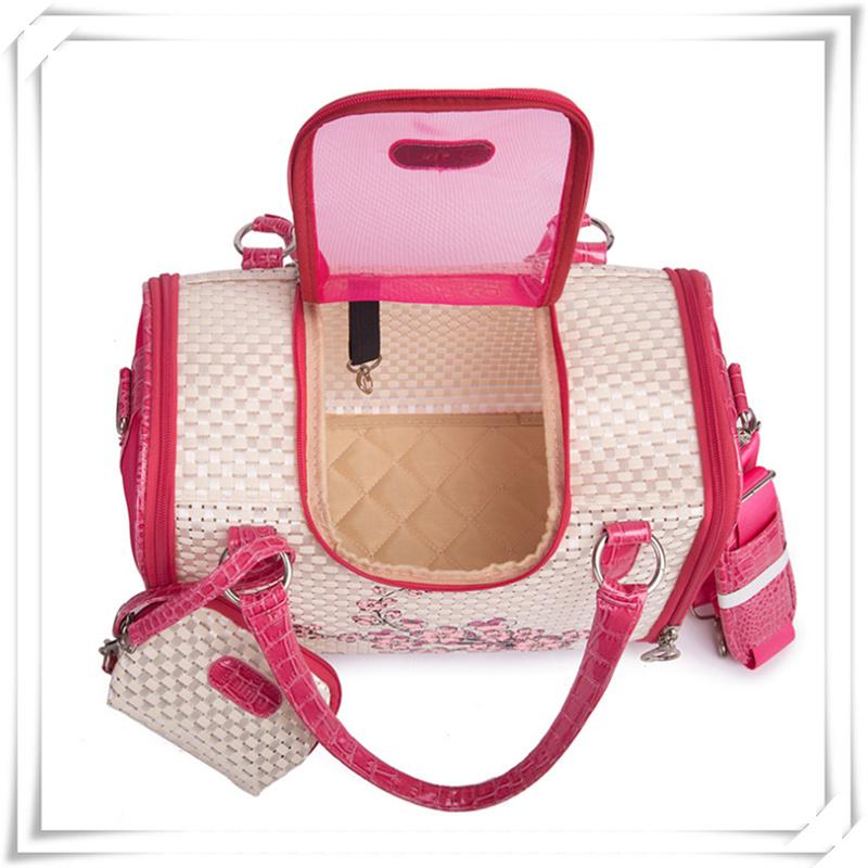 PVC Pet Carrier Bag Pet Handbag for Small Cats Dogs
