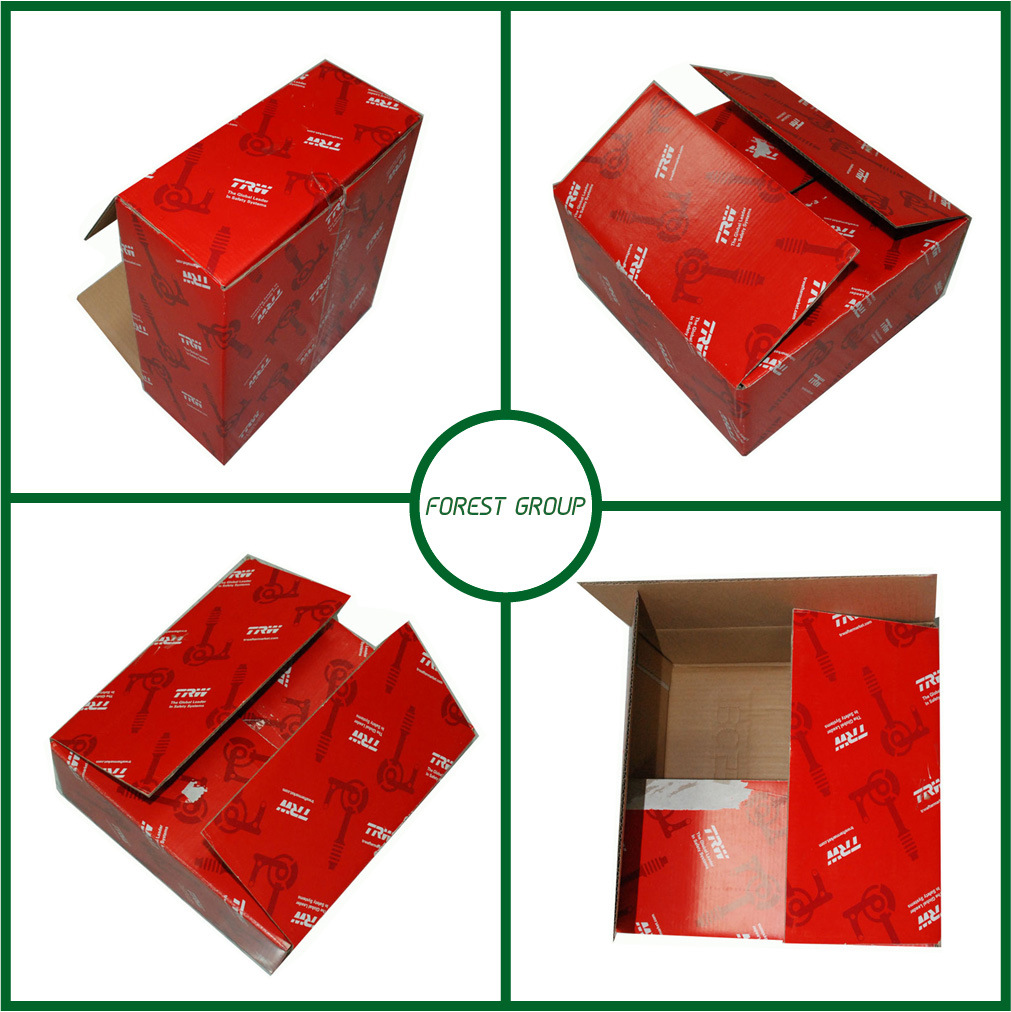 Red Color Printing Corrugated Carton Box Packaging