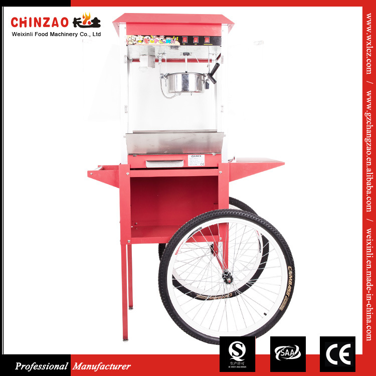 8oz Luxury Commercial Popcorn Popper Maker Machine with Matching Cart
