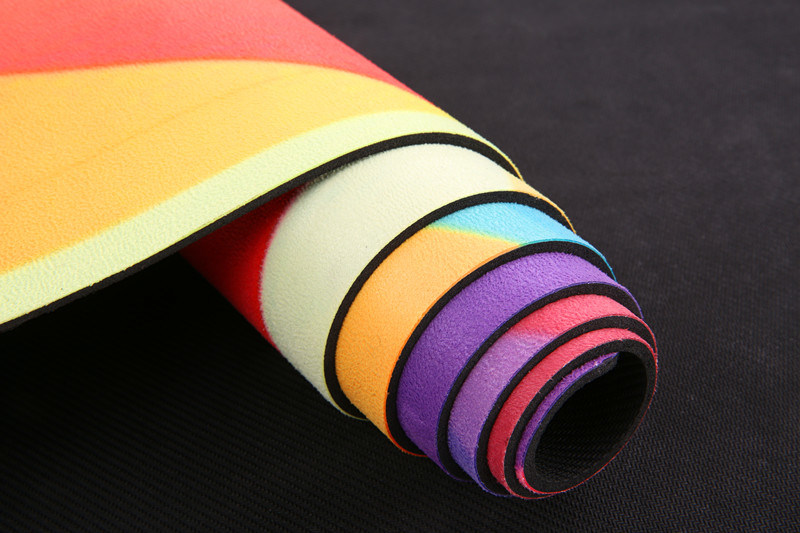 Galaxy Pattern Printed Yoga Mat Microfiber Layer Bonded to Natural Rubber Base