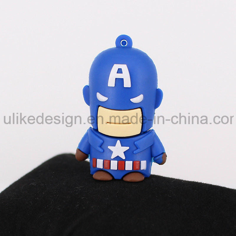 Captain America PVC USB Flash Drive (UL-PVC015)