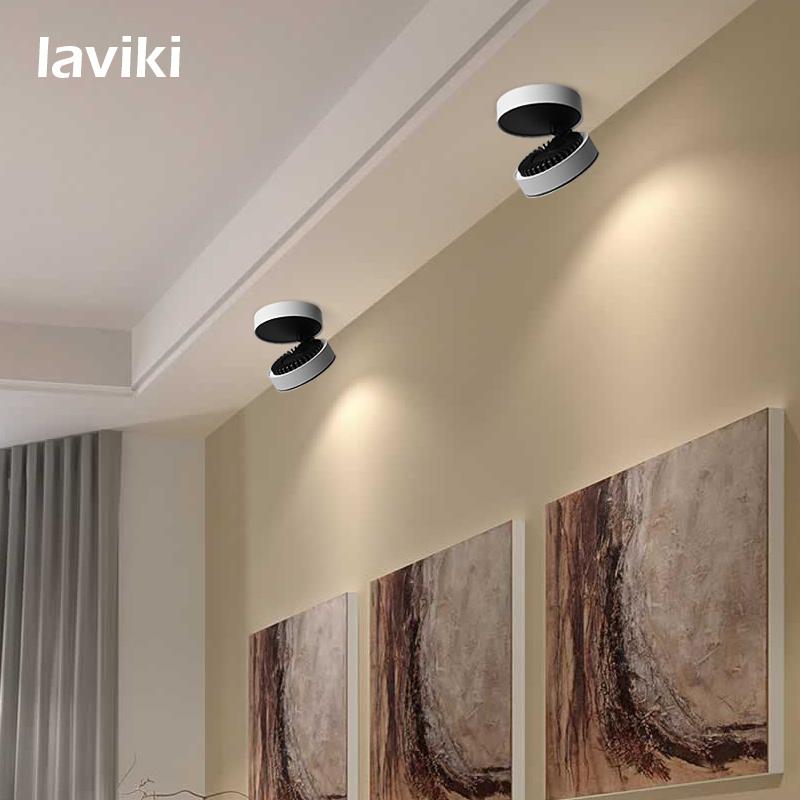 7W/10W/12W COB LED Track Light LED Spotlight with Black White for Shops, Art Gallery, Show Room, Indoor Lighting